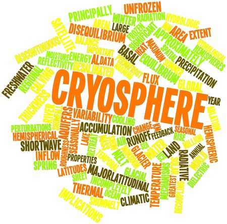 Abstract word cloud for Cryosphere with related tags and terms Stock Photo - 16501293