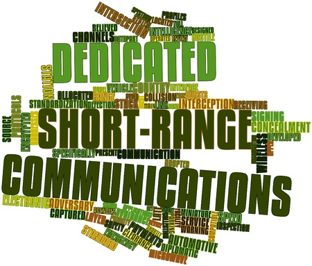 hostile: Abstract word cloud for Dedicated short-range communications with related tags and terms