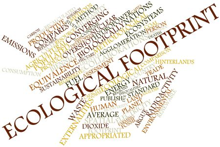 unavailability: Abstract word cloud for Ecological footprint with related tags and terms