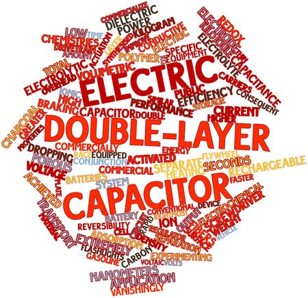 Abstract word cloud for Electric double-layer capacitor with related tags and terms Stock Photo
