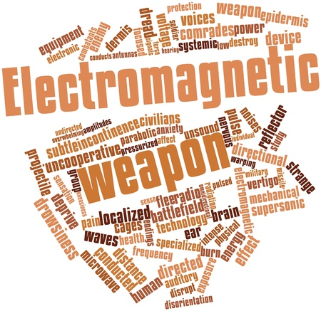 pressurized: Abstract word cloud for Electromagnetic weapon with related tags and terms