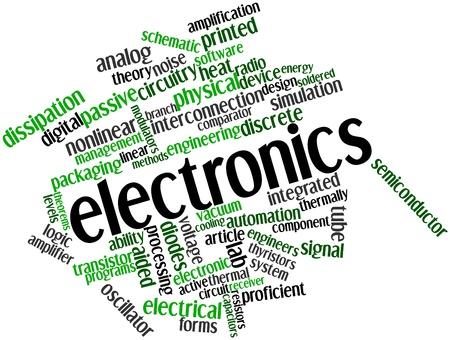 logica: Nube palabra abstracta para Electrónica con etiquetas relacionadas y los términos