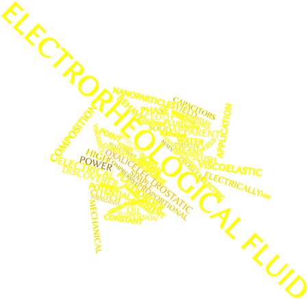 analogous: Abstract word cloud for Electrorheological fluid with related tags and terms