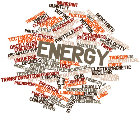 Abstract word cloud for Energy with related tags and terms Stock Photo - 16500661