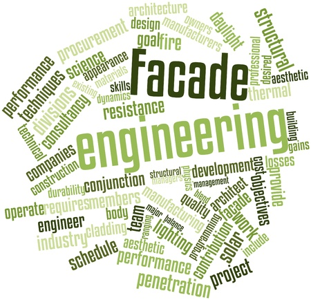 Abstract word cloud for Facade engineering with related tags and terms Stock Photo - 16500424