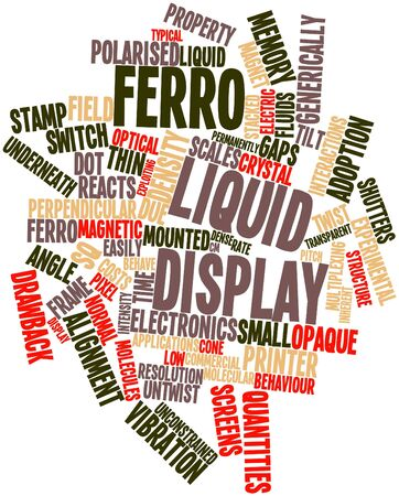 quantities: Abstract word cloud for Ferro Liquid Display with related tags and terms