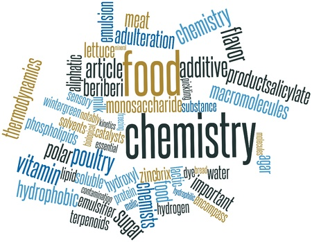 Abstract word cloud for Food chemistry with related tags and terms Stock Photo - 16499792