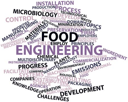 Abstract word cloud for Food engineering with related tags and terms Stock Photo - 16499784