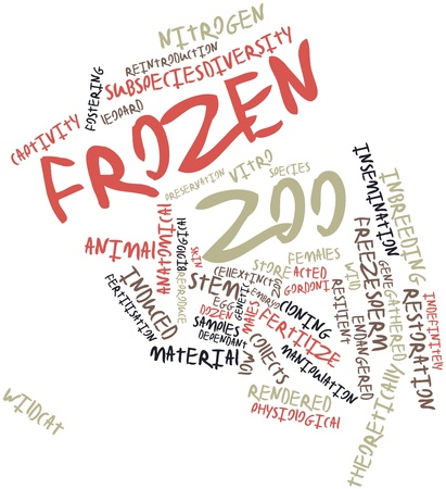 resilient: Abstract word cloud for Frozen zoo with related tags and terms