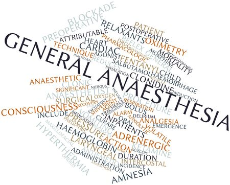 bolus: Abstract word cloud for General anaesthesia with related tags and terms