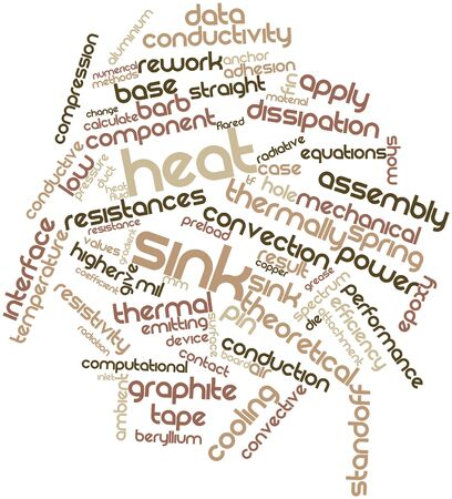 heat sink: Abstract word cloud for Heat sink with related tags and terms