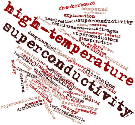 bismuth: Abstract word cloud for High-temperature superconductivity with related tags and terms