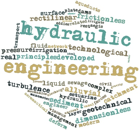 hydraulic: Abstract word cloud for Hydraulic engineering with related tags and terms