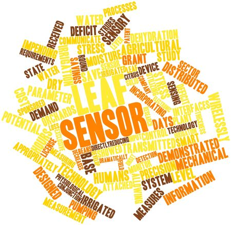 input device: Abstract word cloud for Leaf sensor with related tags and terms