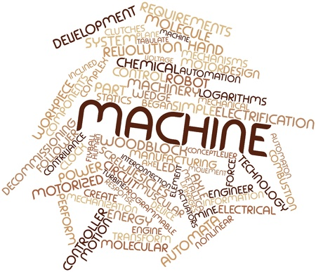 statics: Abstract word cloud for Machine with related tags and terms Stock Photo