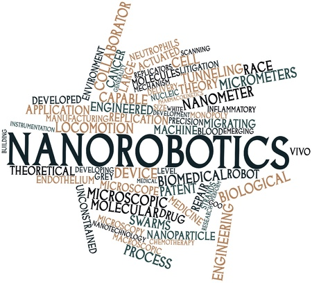 macroscopic: Abstract word cloud for Nanorobotics with related tags and terms