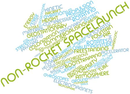 linearly: Abstract word cloud for Non-rocket spacelaunch with related tags and terms