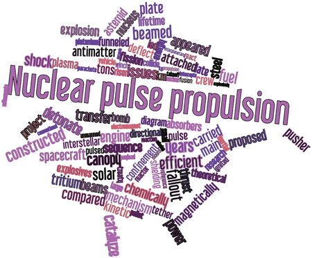 Abstract word cloud for Nuclear pulse propulsion with related tags and terms Stock Photo - 16500421