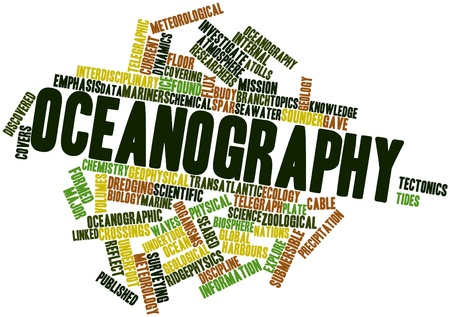 Abstract word cloud for Oceanography with related tags and terms Stock Photo - 16499665