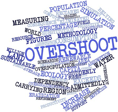 unsustainable: Abstract word cloud for Overshoot with related tags and terms