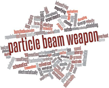 photons: Abstract word cloud for Particle beam weapon with related tags and terms