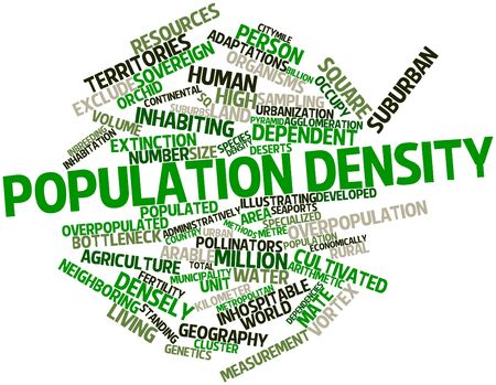 neighboring: Abstract word cloud for Population density with related tags and terms