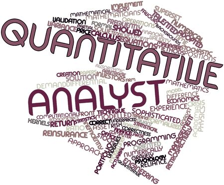 Abstract word cloud for Quantitative analyst with related tags and terms Stock Photo - 16500664
