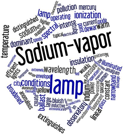 fluorescent lights: Abstract word cloud for Sodium-vapor lamp with related tags and terms