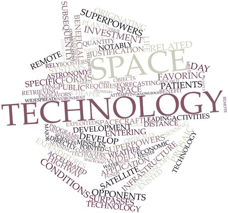 Abstract word cloud for Space technology with related tags and terms Stock Photo
