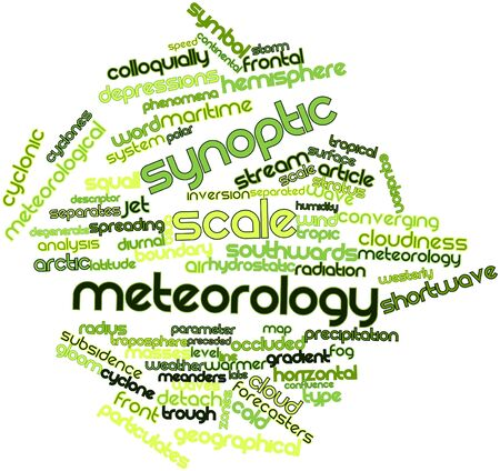 squall: Abstract word cloud for Synoptic scale meteorology with related tags and terms