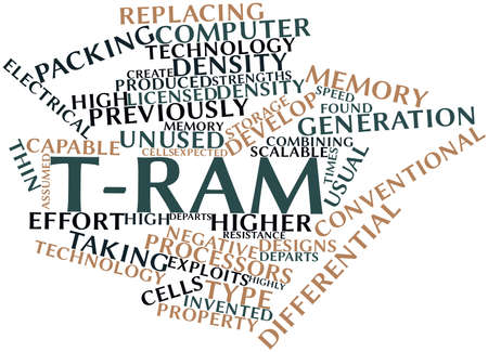 Abstract word cloud for T-RAM with related tags and terms Stock Photo - 16499491