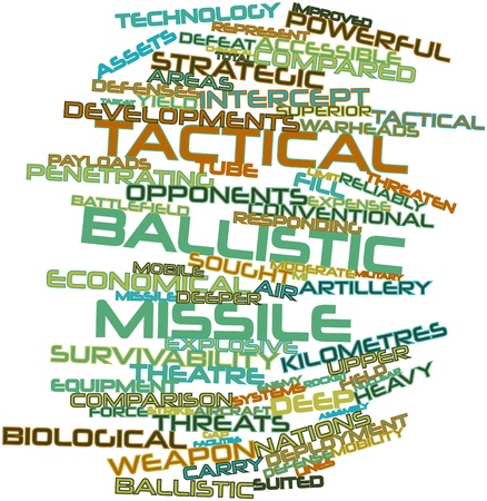 tactical: Abstract word cloud for Tactical ballistic missile with related tags and terms