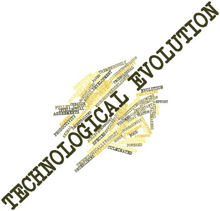technological evolution: Abstract word cloud for Technological evolution with related tags and terms