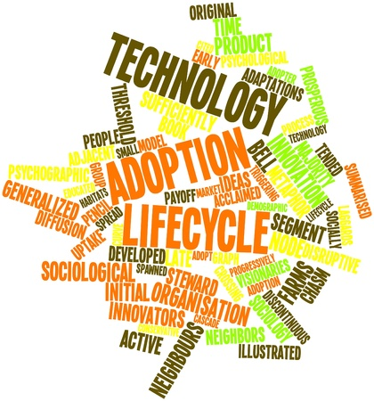 Abstract word cloud for Technology adoption lifecycle with related tags and terms Stock Photo - 16500495