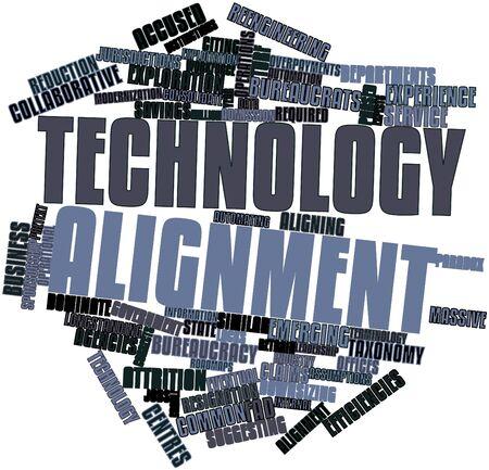 Abstract woordwolk for Technology afstemming met gerelateerde tags en voorwaarden Stockfoto