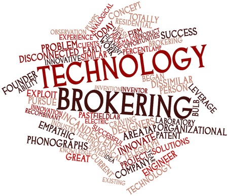 Abstract word cloud for Technology brokering with related tags and terms Stock Photo - 16500588