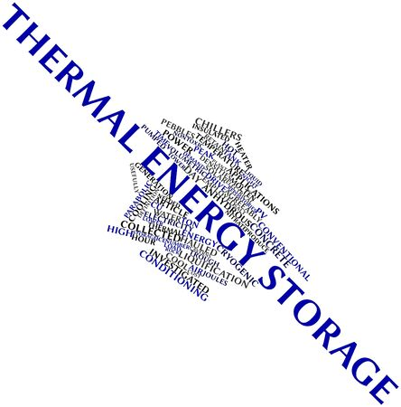 Abstract word cloud for Thermal energy storage with related tags and terms Stock Photo - 16499453