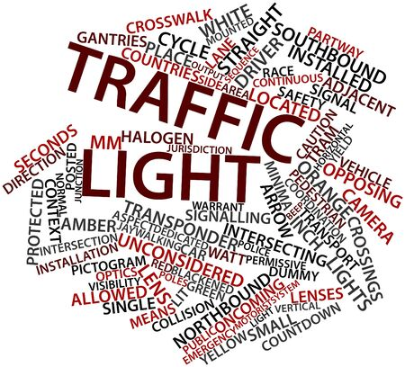 warrant: Abstract word cloud for Traffic light with related tags and terms Stock Photo