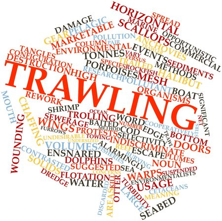 Abstract word cloud for Trawling with related tags and terms