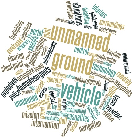 Abstract word cloud for Unmanned ground vehicle with related tags and terms Stock Photo - 16500955