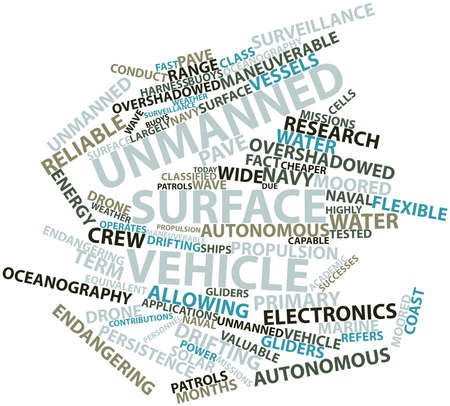 oceanography: Abstract word cloud for Unmanned surface vehicle with related tags and terms