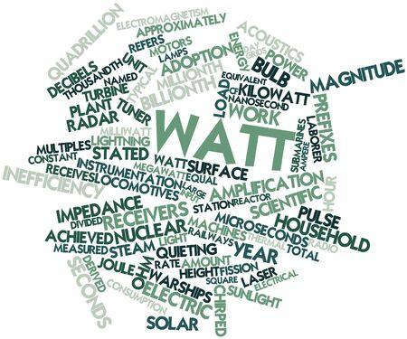 Abstract word cloud for Watt with related tags and terms Stock Photo - 16499872