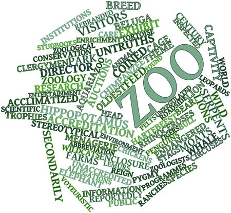 reportedly: Abstract word cloud for Zoo with related tags and terms Stock Photo