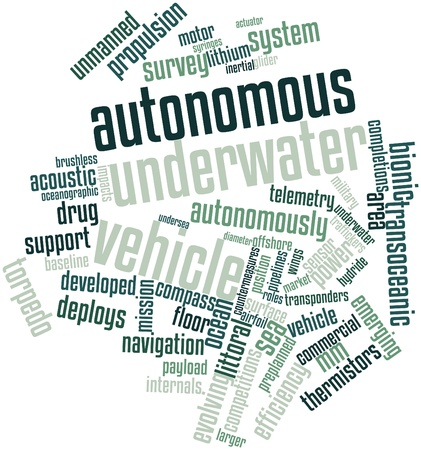 hydride: Abstract word cloud for Autonomous underwater vehicle with related tags and terms