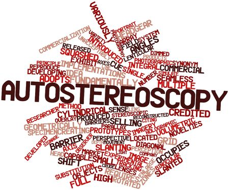 Abstract word cloud for Autostereoscopy with related tags and terms Stock Photo - 16500739