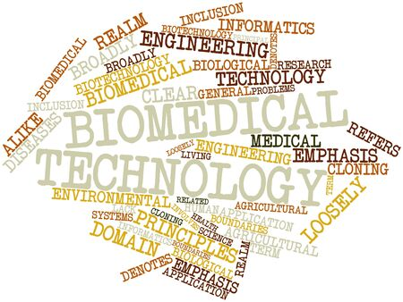 biomedical: Abstract word cloud for Biomedical technology with related tags and terms