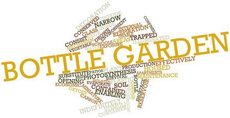 enabling: Abstract word cloud for Bottle garden with related tags and terms