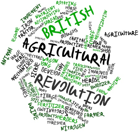 rasp: Abstract word cloud for British Agricultural Revolution with related tags and terms