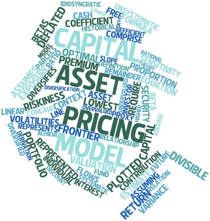 indices: Abstract word cloud for Capital asset pricing model with related tags and terms
