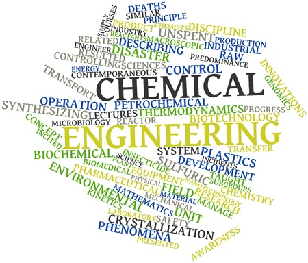 petrochemical plant: Abstract word cloud for Chemical engineering with related tags and terms